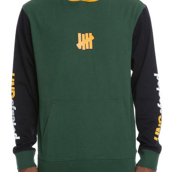The Sessions L Pullover Hoodie in Green & Yellow