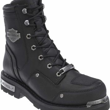Harley-Davidson® Men's Lockwood 7.5-Inch Black Motorcycle Riding Boots. D96096
