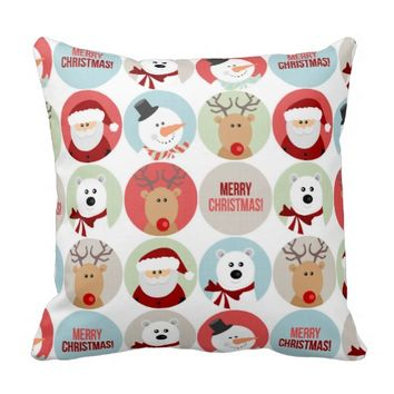 Cute Christmas Circles Pillows