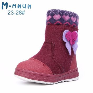 MMnun Felt Boots For Girls Winter Boots For Girls Boots For Girls Winter Children Shoes Kids Children Boots Size 23-32 ML9427