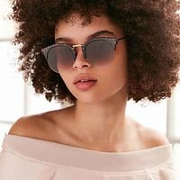 Poolside Half-Frame Sunglasses - Urban Outfitters
