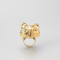 Andrea Garland Wolf Lip Balm Ring - Urban Outfitters