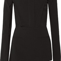 Haider Ackermann - Off-the-shoulder stretch-wool crepe playsuit