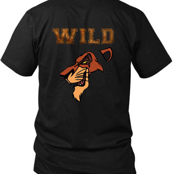 Scar The Wild Lion King 2 Sided Black Mens T Shirt