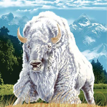 White Buffalo Signature Queen Blanket - Free Shipping in the Continental US!