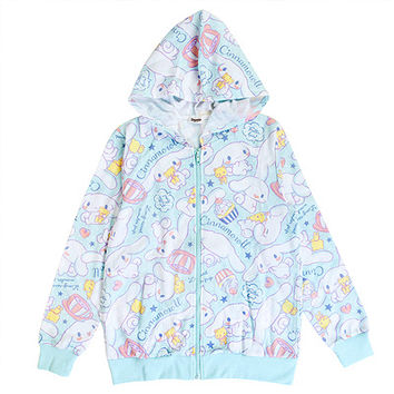 Buy Sanrio Cinnamoroll Cafe Zip-Up All-Over Print Jacket with Hood at ARTBOX