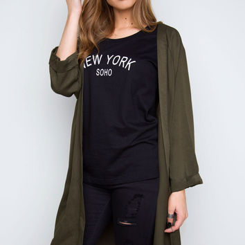 Be A Boss Jacket - Olive