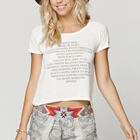 Element Happy List Short Sleeve T-Shirt - Womens Tee - Natural