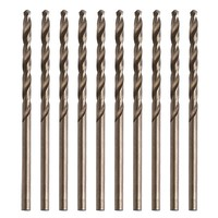 OOTDTY OOTDTY 10Pcs/Set 2.5mm M35 Triangle Shank HSS-Co Cobalt Twist Drill Spiral Drill Bit