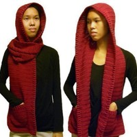 Hooded Scarf  3 sizes  PDF Crochet Pattern by rachelscrochet