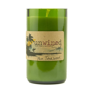 UNWINED SURF CANDLE TEAK WOOD 12 OZ