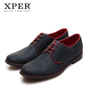 XPER Casual Men Dress Shoes Lace-Up