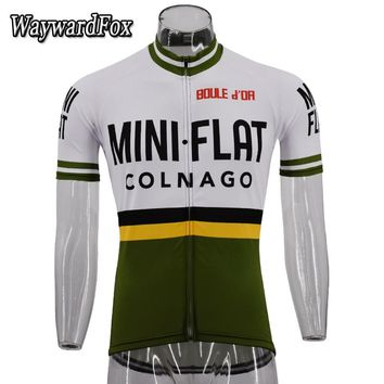 Hot Classic retro pro team Cycling Jersey Summer Racing Cycling Clothing Short Sleeve MTB Bike Jersey Maillot Ciclismo