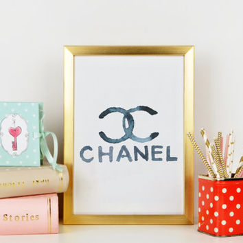 COCO CHANEL PRINT,Chanel Sign,Chanel Poster,Chanel Logo,Coco Chanel Logo Print,Fashionista,Fashion Print,Printable Quote,Typography Print