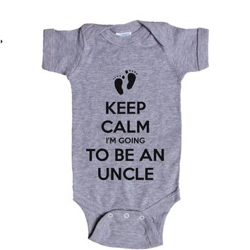 Keep Calm I'm Going To Be An Uncle Baby Onesuit