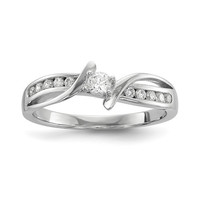 Sterling Silver Infinity Inspired ByPass Promise Ring