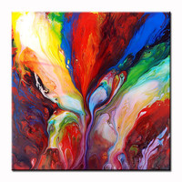 Original Colourful Abstract Fluid Painting 49 by MarkChadwickArt