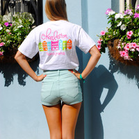 Charleston Monograms Rainbow Row Logo T-Shirt