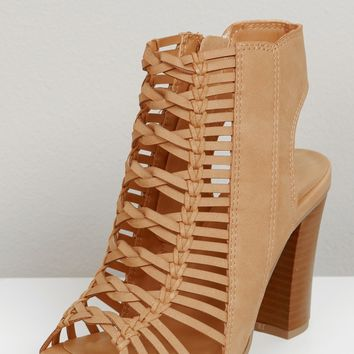 Detailed Chunky Heel Sand