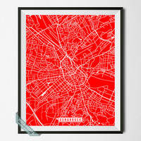 Osnabruck Print, Germany Poster, Osnabruck Street Map, Germany Print, Osnabruck Poster, Germany Map, Street Map, Wall Art