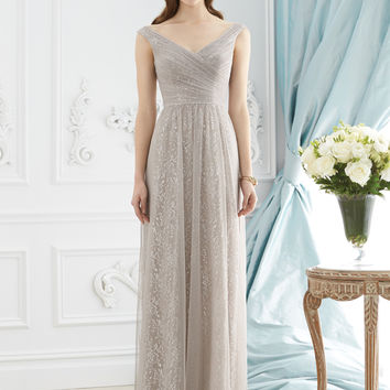 Dessy Collection 2946 Off the Shoulder Lace Bridesmaid Dress