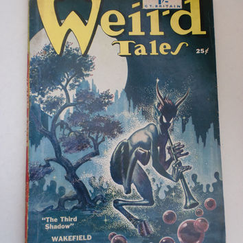Vintage Wierd Tales Horror Stories Scary Tales USA Printed 1950 UK Edition