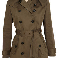 Burberry Brit|Mid-length cotton-twill trench coat|NET-A-PORTER.COM
