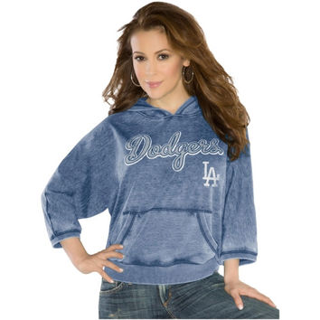 Touch by Alyssa Milano L.A. Dodgers Ladies Star Player Pullover Hoodie - Navy Blue