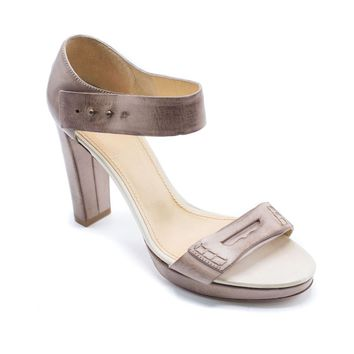 Brunello Cucinelli Womens Brown Ankle Strap Sandals Pumps