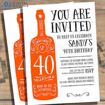 Best 40th party invitations products on wanelo 40th birthday invitation 40th birthday birthday invite 40 birthday digital milestone stopboris Gallery