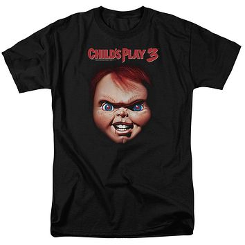 Childs Play T-Shirt Chucky Close Up Black Tee