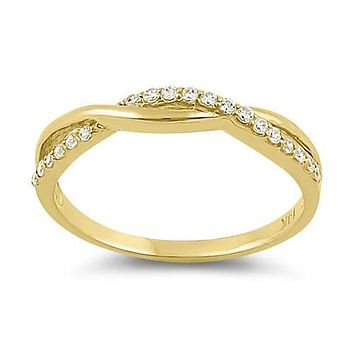 14K Yellow Gold .99TCW Russian Lab Diamond Wedding Band Eternity Ring