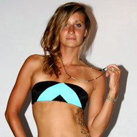 "The ""Anna"" REVERSIBLE strapless TUBE top BIKINI"