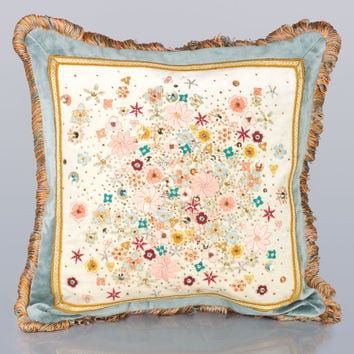"Mille Fiori 18""Sq. Pillow - Jay Strongwater"