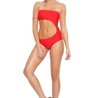 Cherry Fake Out Swimsuit