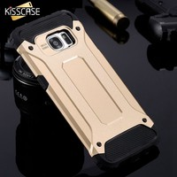 KISSCASE Hybrid Case for S7 S7 Edge Cool Hard PC + Soft Silicone Combo Armor Case for Samsung Galaxy S7 S7 Edge Protective Cover