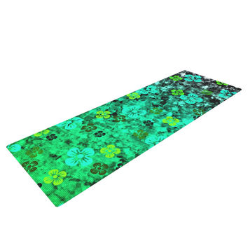 "Ebi Emporium ""Luck of the Irish"" Green Floral Yoga Mat"