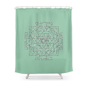 Society6 Glitter Sri Yantra Shower Curtain