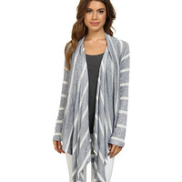Splendid Serengeti Stripe Loose Knit Cardigan Grey - 6pm.com