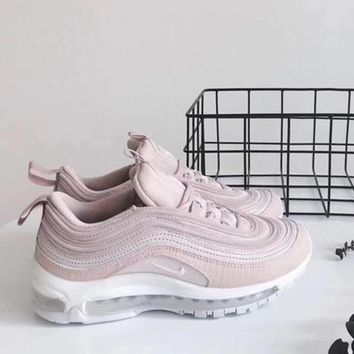 One-nice™ Nike Air Max97 Pink Women Running Sport Casual Shoes Sneakers Pink I