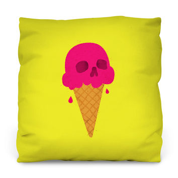 Skull Scoop Outdoor Throw Pillow