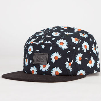 a43f6945386 Vans Willa Daisy Camper Womens 5 Panel Hat Black Combo One Size For Women  23413614901