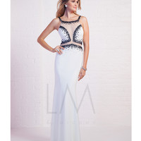 LM by Mignon HY1210B Beaded Sheer Illusion Cutouts Dress 2015 Prom Dresses