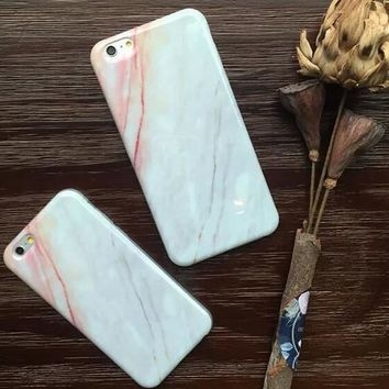 Retro Marble Stone Case for iPhone 5s 5se 6 6s Plus Gift 321-170928