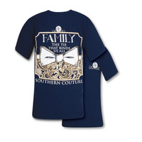 Southern Couture Family The Tie That Binds Us All Bow Comfort Colors T-Shirt