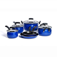 Basic Essentials Carbon Steel 10-Piece Cookware Set