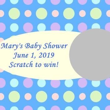 10 Blue Baby Shower Scratch Off Game Cards