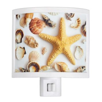 Conchs and starfish Night Light