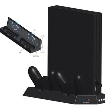 Vertical Stand for PS4 Pro Cooling Fan Heat Sink,Controller Charging Station Power Supply for Playstation 4 Pro 4.0 Game Console