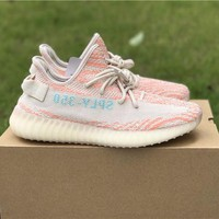 Best Online Sale Kanye West  x Adidas Yeezy 350 V2 Boost Clear Brown/ Chalk Coral Clear Aqua Sport Shoes  Running Shoes B37574